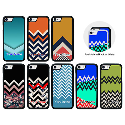 Chevron Block Personalised Name Case For IPhone 5s 6s 7 8 PLUS XS 11 Pro MAX XR • 7.99£