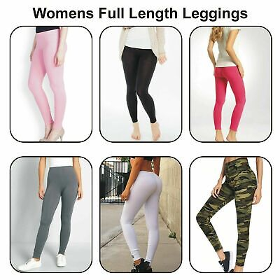 £7.99 • Buy Womens Full Length Leggings Trousers Camouflage Checker Checkered Camo Military