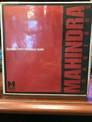 $20 • Buy Mahindra Tractor Backhoe Parts Reference Guide