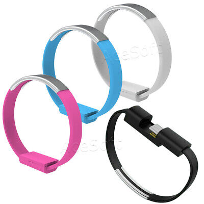 $7.84 • Buy Durable Type-C USB Cable Bracelet Wristband Charger Charging Data Sync Cord 22cm