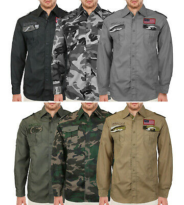 $24.99 • Buy Men's American Military Long Sleeve US Army Camo Casual Button Up Dress Shirt