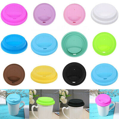 £1.99 • Buy Reusable Silicone Leakproof Cup Lid Cover Tea Coffee Sealing Lid Cap Cover