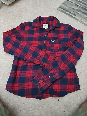 Hollister Red Checked Flannel Shirt Size Small • 9.99£