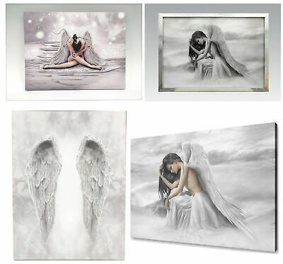 Angel Wings And Glitter Angel Canvas Wall Art Home Decoration Hanging Pictures • 14.95£