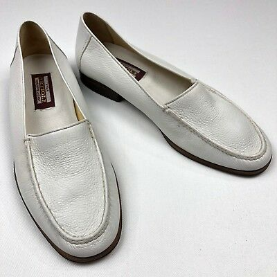 $ CDN595.65 • Buy NEW Artioli Star Men's Deerskin Leather Loafers Slip On Shoes White • Size 8.5