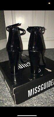 Womens Missguided Black High Heel Shoes Size 5.  BRAND NEW   NEVER WORN • 8.99£