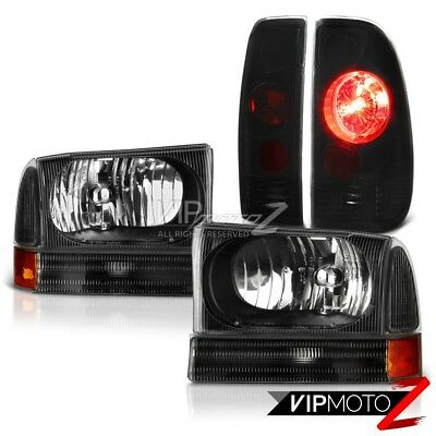 AU180.09 • Buy Satin Black Headlamps Taillight Smoke Tinted 1999-2004 Ford F250 Harley Davidson