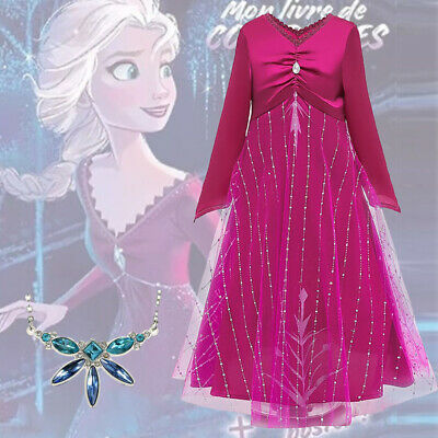 AU22.49 • Buy 2019 New Released Girls Frozen 2 Elsa Costume Party Birthday Dress 2-10 Years