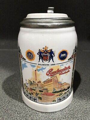 $ CDN36.24 • Buy Budweiser Budvar Brewery Beer Stein Czech Republic Lidded Covered