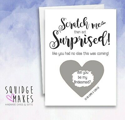£3.70 • Buy Will You Be My Bridesmaid Scratch Card Maid Of Honour, Chief Bridesmaid Best Man