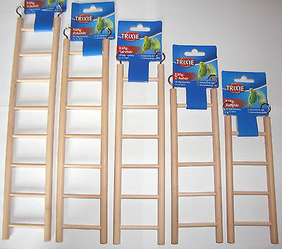 £5.99 • Buy Wooden Ladder Cage Toys Bird Budgie Rodent Hamster Mouse Gerbil Degu Rat