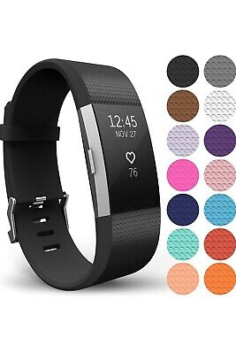 AU3.59 • Buy For Fitbit Charge 2 Strap Sports Wrist Band Silicone Replacement Small Large