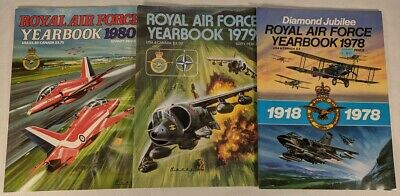 $12.74 • Buy Royal Air Force Yearbook 1978 1979 1980 Lot Of 3 Aircraft Aviation Airplanes ++