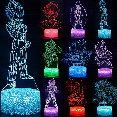 3D Dragon Ball Z LED Night Lights Son Goku Table Desk Lamp Decor Kids Toys Gifts • 9.39£