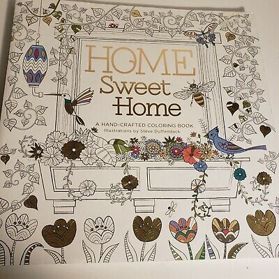 $9.99 • Buy NEW Adult Coloring Book Home Sweet Home