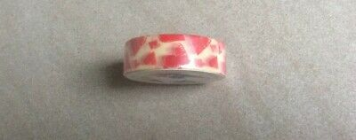 AU2.80 • Buy Washi Tape - Red Hearts On Cream, 15mmx10m ~Card Making, Scrapbooking +