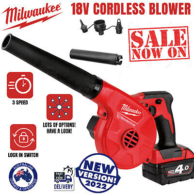 AU163.97 • Buy Milwaukee M18BBL 18V Li-Ion Cordless 3 Speed Compact Blower Skin Power Tools New