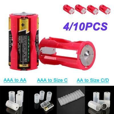 AU6.44 • Buy 4X AA AAA To Size D C Battery Converter Adapter Holder Switcher Box Case Cell