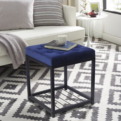 $49.99 • Buy Fabric Upholstered Metal Frame Storage Ottoman, Mid-century Modern Footrest