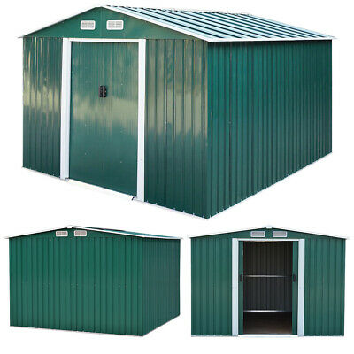 £489.95 • Buy Metal Storage 10 X 8 Outdoor Garden Shed Tool Sheds Building Steel W/ Foundation