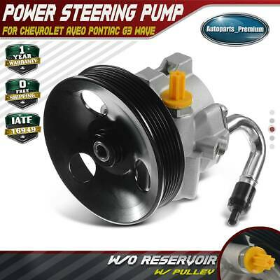$69.99 • Buy Power Steering Pump W/ Pulley For Chevrolet Aveo Pontiac G3 Wave L4 1.6L 20-806