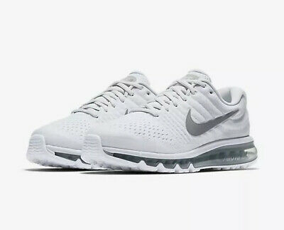 $119.99 • Buy NEW Nike Air Max 2017 White Grey Running Shoes 849559-009 Size 10 NO BOX TOP
