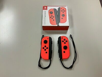 $46 • Buy Nintendo Switch Joy-Con Neon Red, Right And Left, Excellent Condition