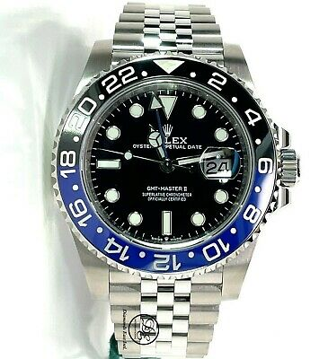 $ CDN22488.34 • Buy Rolex GMT-MASTER II 126710BLNR BATMAN 40mm SS Black /Blue Ceramic Bezel Unworn