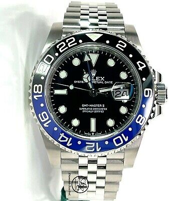 $ CDN23389.16 • Buy Rolex GMT-MASTER II 126710BLNR BATMAN 40mm SS Black /Blue Ceramic Bezel Unworn