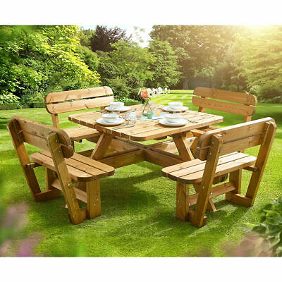 £733.19 • Buy Anchor Fast 8 Seater Pine Wood Picnic Bench