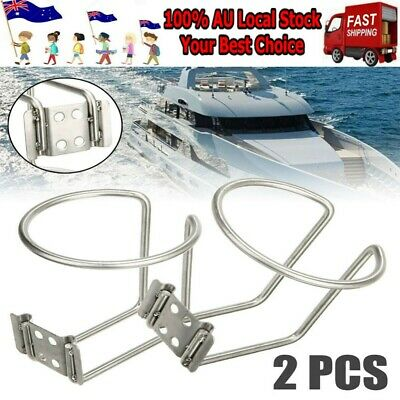 AU23.96 • Buy 2x Stainless Steel Boat Ring Cup Drink Holder For Boat Marine Yacht Truck Camper