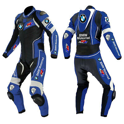 $199.99 • Buy BMW Leather Suit Motorcycle Motorbike Racing Leather Biker 1PC Armors Protective