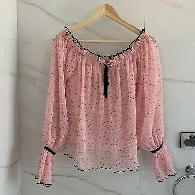 AU70 • Buy Alice McCALL Picture This Blouse Top Rose/ Pink (No Straps) Size 4 XS