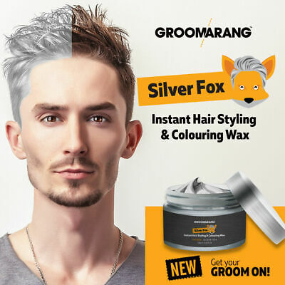 HAIR PAINT WAX |  Silver Fox Grey Coloured Clay Temporary Dye 120g By Groomarang • 7.97£