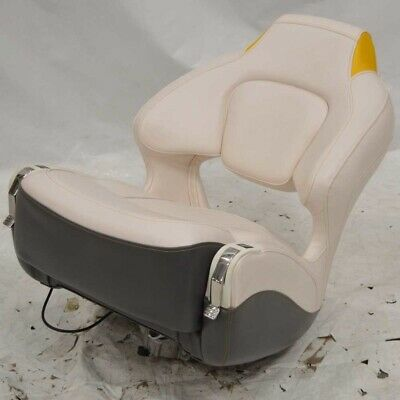 $ CDN746.58 • Buy Chaparral Boat Captains Helm Bolster Seat W/ Mount Off White Yellow