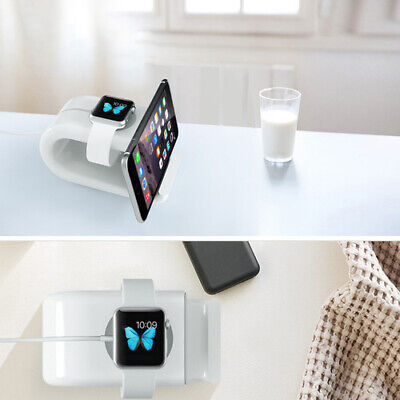 2 In 1 Charging Dock Station Stand For IPhone 11 X 8 7 Plus Apple IWatch 5 4 3 2 • 12.49£