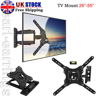 Adjustable Tilt 15° TV Wall Brackets Extend Mount For 26 -55  LED LCD Monitor PP • 13.99£
