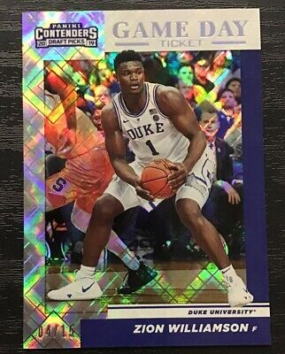 $51 • Buy 2019-20 Panini Contenders Zion Williamson Diamond Game Day Ticket RC SSP #4/15
