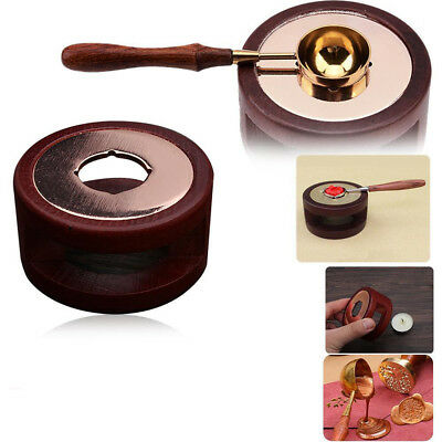 Melting Stove Wax Seal Wood Spoon Melting Stamp Furnace Accessories Tools DIY • 7.04£