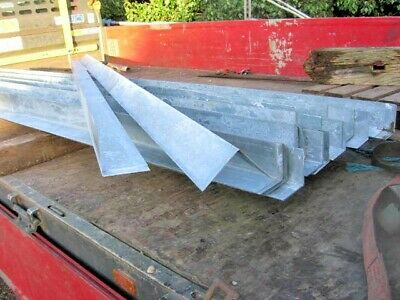 1... 3MTR LENGTH OF GALVANISED STEEL  BARGE BOARD EDGE PIECE  APPROX 90 X 90  • 9.50£