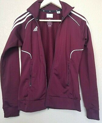 $55 • Buy WOMENS ADIDAS TRACKSUIT SIZE S Burgundy Jacket And Pants