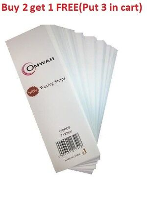 $9.99 • Buy Professional Waxing Non Woven Epilating Face Body Wax Strips 100 Count Large