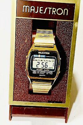 Vintage Majestron Chronograph Melody Digital LCD Wrist Watch From 1970s(245M) • 112.32£