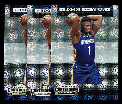 $3.25 • Buy (3) 2019-20 Panini Contenders ROY Contenders Zion Williamson RC LOT PELICANS