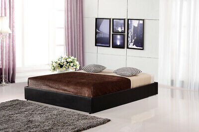 AU287 • Buy PU Leather Double Bed Ensemble Frame - Black