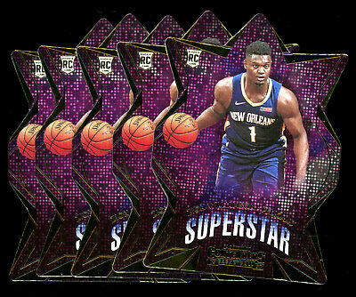 $28 • Buy (5) 2019-20 Panini Contenders Superstar Zion Williamson RC Rookie LOT PELICANS