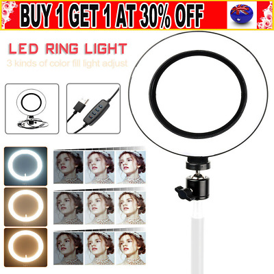 AU16.99 • Buy 6  Phone LED Ring Light Without Stand For Youtube Tiktok Makeup Video Live AU G