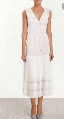 $82.55 • Buy Zimmermann Flutter Lace Dress, Pearl, Size 1, RRP $450, With Tags