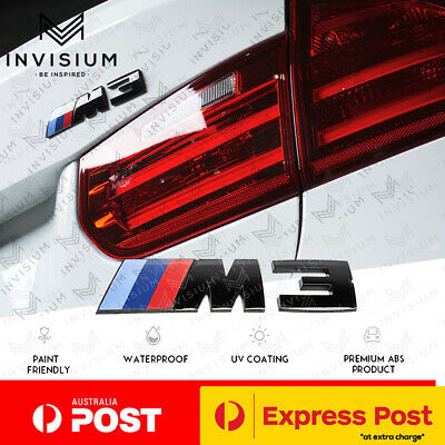 AU26.90 • Buy GLOSS BLACK M3 Rear Trunk Boot Sticker Badge Emblem For BMW M3 E92 F30 335i