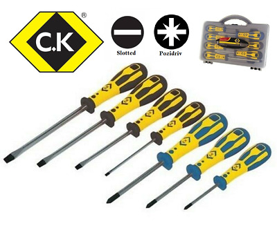Trade Quality CK  Dextro Screwdriver Set 7 Piece Slotted & Pozi In Carry Case  • 19.99£